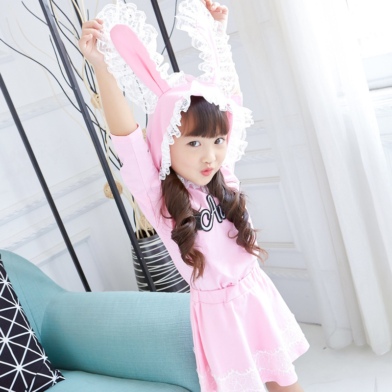 2017 neue Mädchen Herbst Set Koreanische Pullover + Rock 2 Stücke - Kinderkleidung - Foto 3