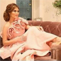 Abendkleiderアラビアデザインワンショルダー花ストラップ足首の長さウエディング花嫁介添人ドレス