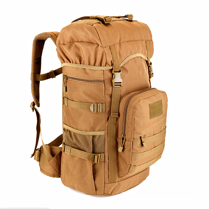 2017 New Military Tactical Backpack 50L large Capacity Camping Bags Mountaineering bag Men's Hiking Rucksack Travel Backpack