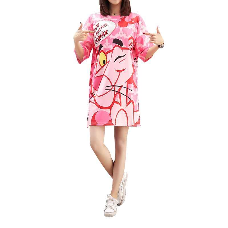 87d820078315b Detail Feedback Questions about QING MO Women Pink Panther Printing ...