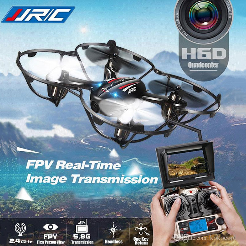 FPV Quadcopters With HD Camera Flying RC Drone JJRC H6D Helicopter Camera Professional Rc Dron Copter Best Toy Gifts fpv rc quadcopters with hd wifi camera flying drones dron helicopter remote control hexacopter toys copters jjrc h12w