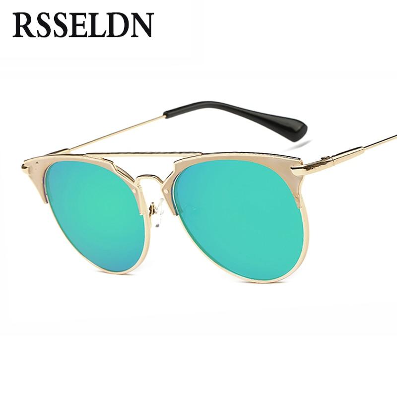 RSSELDN 2018 Nouveau Rétro Cat Eye lunettes de Soleil Femmes Marque Designer Lunettes De Soleil de Mode Pour Femmes Vente Chaude UV400 oculos de sol
