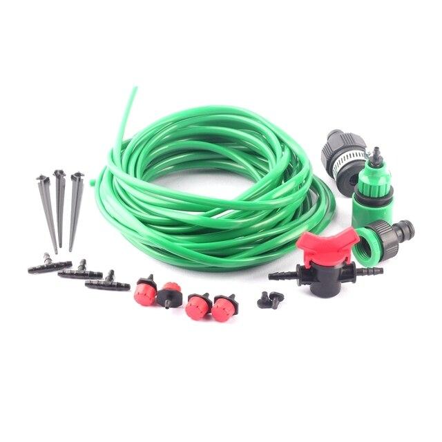 5~30m Micro Drip Irrigation System 4/7mm Green Garden Hose Bonsai Flowr Watering Kit DIY Home Garden Trickle Irrigation Kits