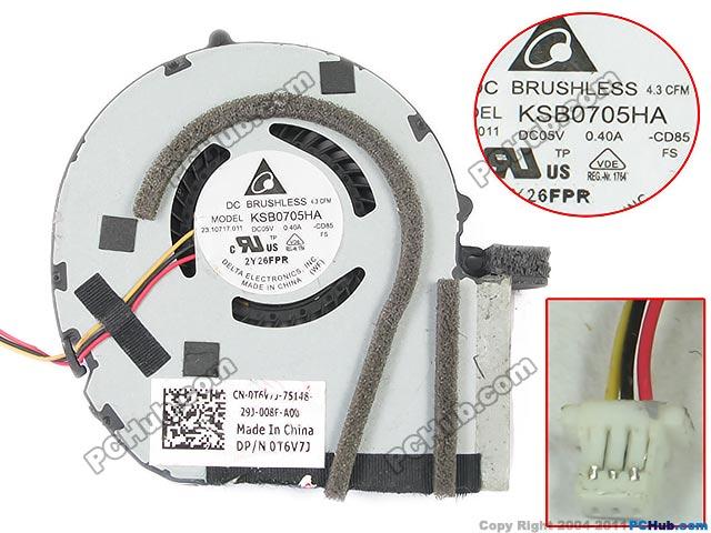 Delta Electronics KSB0705HA -CD85 Server Laptop Fan DC 5V 0.40A 3-wire