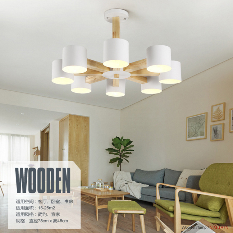 Nordic European Pendant Lights For Dinning Room Restaurant Modern Wooden Pendant Lamp Hanging Lights 110-240V chinese style classical wooden sheepskin pendant light living room lights bedroom lamp restaurant lamp restaurant lights