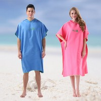 Quick Drying Changing Robe Travel Bath Towel Adult Hooded Beach Mat Towels Poncho Women Men Bathrobe Swimsuit Cloak DropShiping