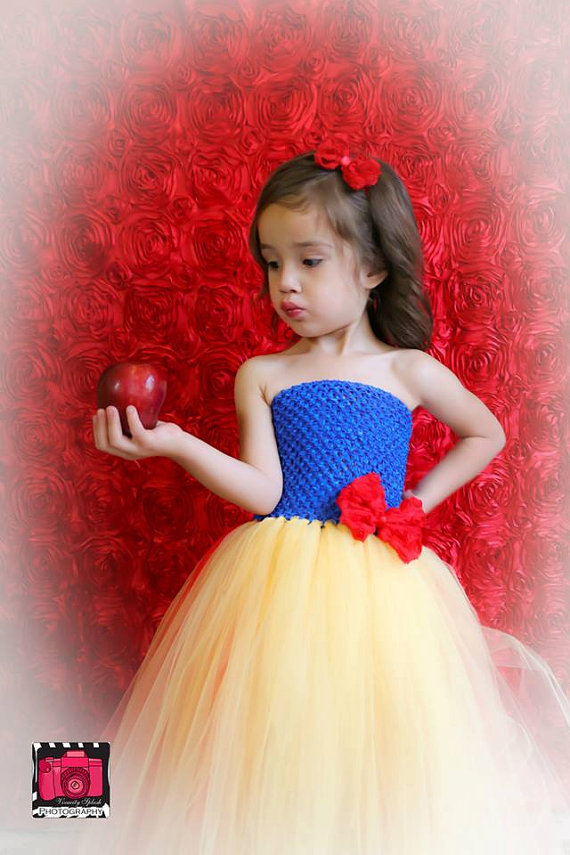 Snow white princess tutu dressyellow and royal blue flower girl snow white princess tutu dressyellow and royal blue flower girl wedding dressrole play party birthday party and photo in dresses from mother kids on mightylinksfo Gallery
