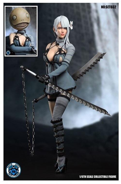 SUPER pato mujer autómatas A2 ropa w/de la cabeza conjunto ajuste 1/6 Phicen cuerpo-in Figuras de juguete y acción from Juguetes y pasatiempos    1