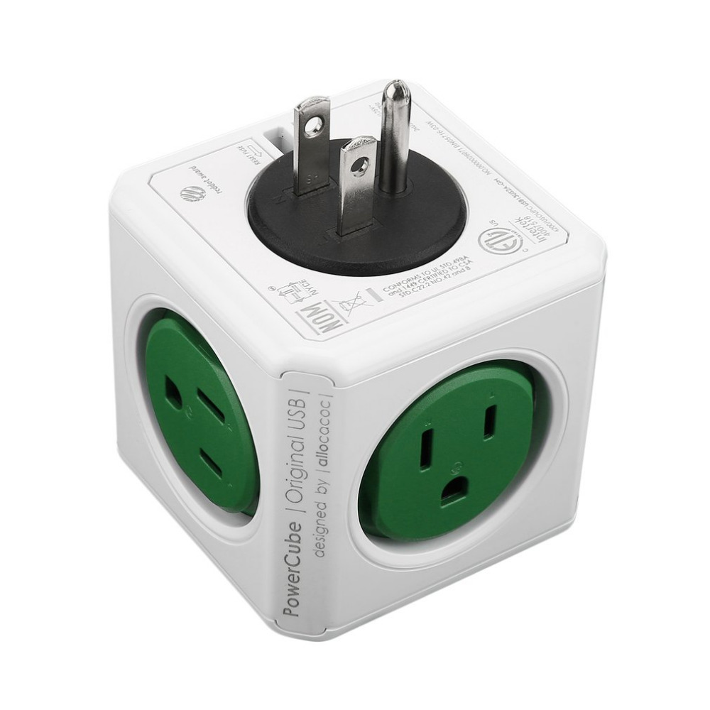 цена на EU/US/UK Home Office Wall Mount Socket Plug Power Cube Shape Wall Mount Socket Adapter Multi-Outlets Power Strip Extension