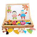 Multifunctional Educational Animal Wooden Magnetic Puzzle Toys For Children Kids Wooden Jigsaw Toys Baby's Drawing Easel Board