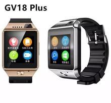 2016 Bluetooth 4.0 Smart watch GV18 APlus Whatsapp Téléphone Soutien SIM carte Et TF Carte Montre-Bracelet À Puce UI Pour IPhone Et Android
