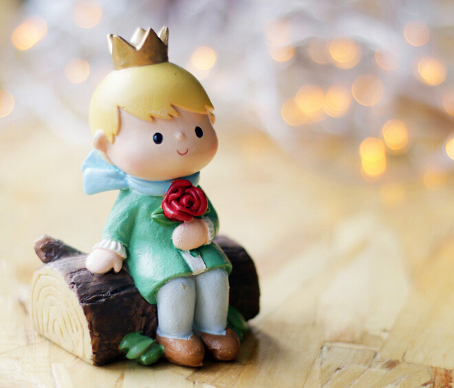 NEW hot ! 1pcs 7-9cm Le Petit Prince little prince Rose fox snake Action Figures toys