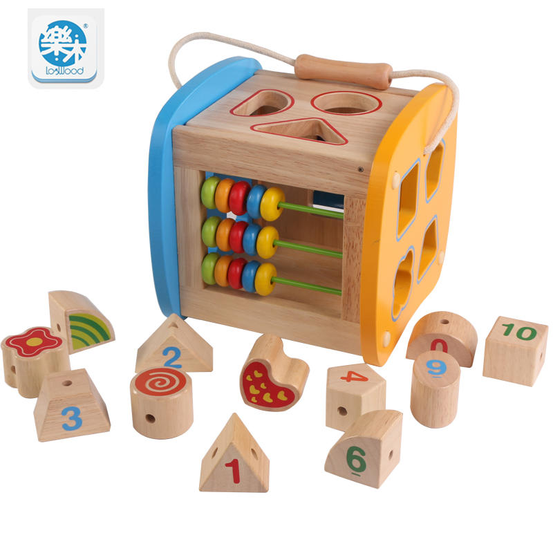 Logwood Baby Wooden  building blocks Multifunctional Shape Box early education Montessori educational toys for children gifts montessori education wooden toys four color game color matching early child kids education learning toys building blocks