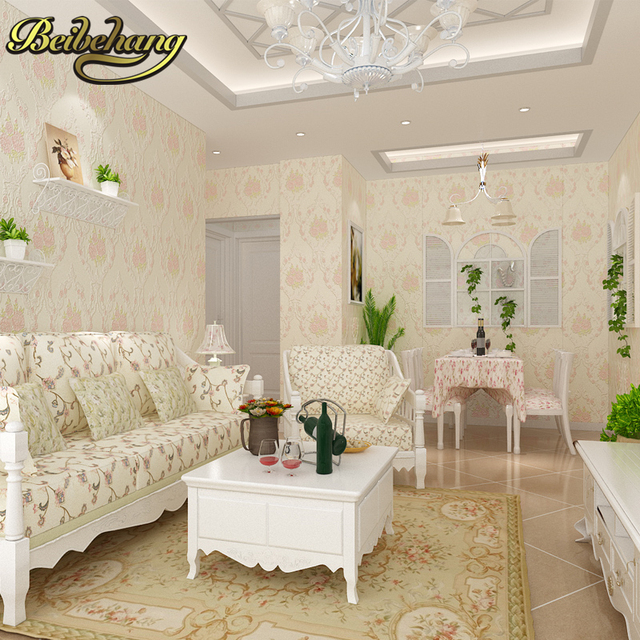 Beibehang Papel De Parede 3D Non Woven Wall Paper Flower Wallpaper Bedroom Living  Room Wall Paper Part 51