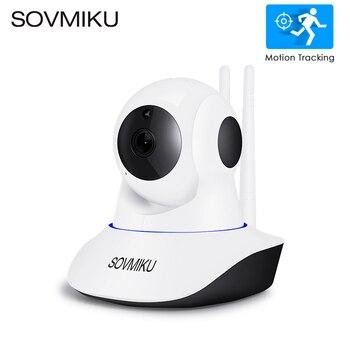 Na podczerwień WIFI CCTV 720 P 1080 P kamera IP bezprzewodowy Monitor dla dziecka bezpieczeństwa w domu Night Vision nadzoru wideo automatyczne śledzenie kamera