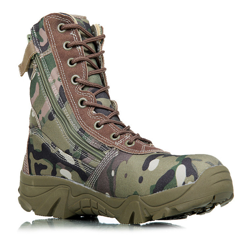 Men Military Boots Camouflage Tactical Combat Boots Asker Bot Men Kamuflaj Bot Army Shoes Men Climbing Shoes Botas