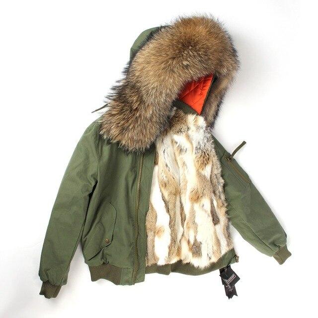 Réel De D'hiver Bomber Fourrure Épaissir Veste J Femmes Manteau H Z tEwv8