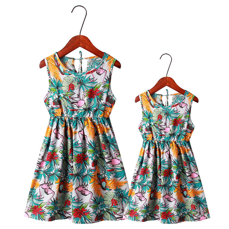 2019 4 12 Y Mommy And Me Family Matching Mother Daughter Dresses Clothes Flowers Pineapple Dress Kids Parent Child Outfits SML in Matching Family Outfits from Mother Kids