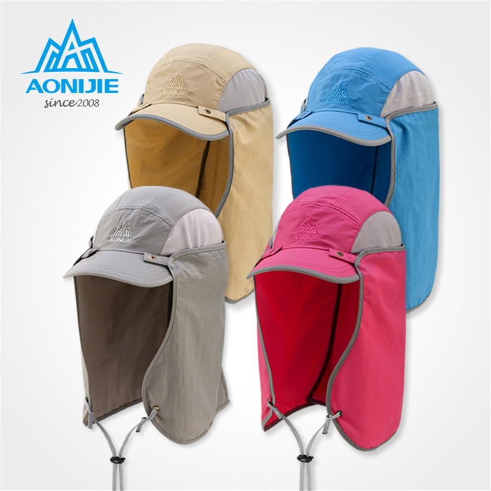 AONIJIE Sports Fishing Caps Men Cycling Running Fishing Hats Women Sunshade Anti-UV Hat Outdoor Travel Foldable Sun Caps Hat