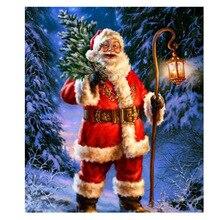 Diamond Painting Santas Christmas Tree Embroidery Diy Needlework Cross Stitch Rhinestones Mosaic KJ474