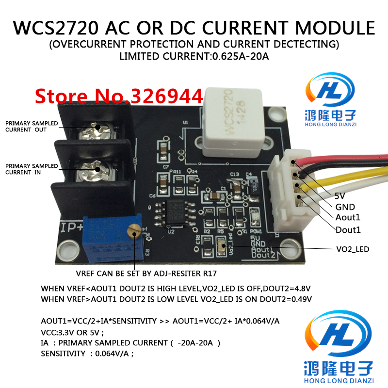 Sensors Business & Industrial 12v Wcs2720 Current Detection Sensor Module Dc 0-30a Overcurrent Protection Sophisticated Technologies