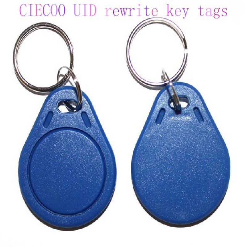 Writable FM1108 13.56MHz RF IC Key Tags Keyfobs Token Keychain for access control