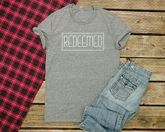 Christian T Shirts Unisex Redeemed T-Shirts Women Bible Verse Shirts for  Women Jesus tees d9a99f6640bb