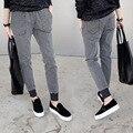Новый весной и летом женские джинсы стрейч случайные брюки хлопок серый эластичные брюки старинные эластичный пояс жира сестра XL 5XL