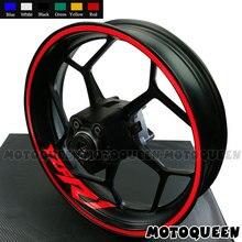 16Pcs רצועות 8 X Custom Iner חישוקים מדבקות אופנוע מדבקות גלגלים פסים מנוע אופני עבור ימאהה YZF R1 r3 R6 YZFR1