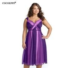 Cocoepps 2017 M-5XL плюс Размеры пикантные женские летние платья Фиолетовый без бретелек линии платье Элегантная Женская пляжная одежда 4XL большой Размеры