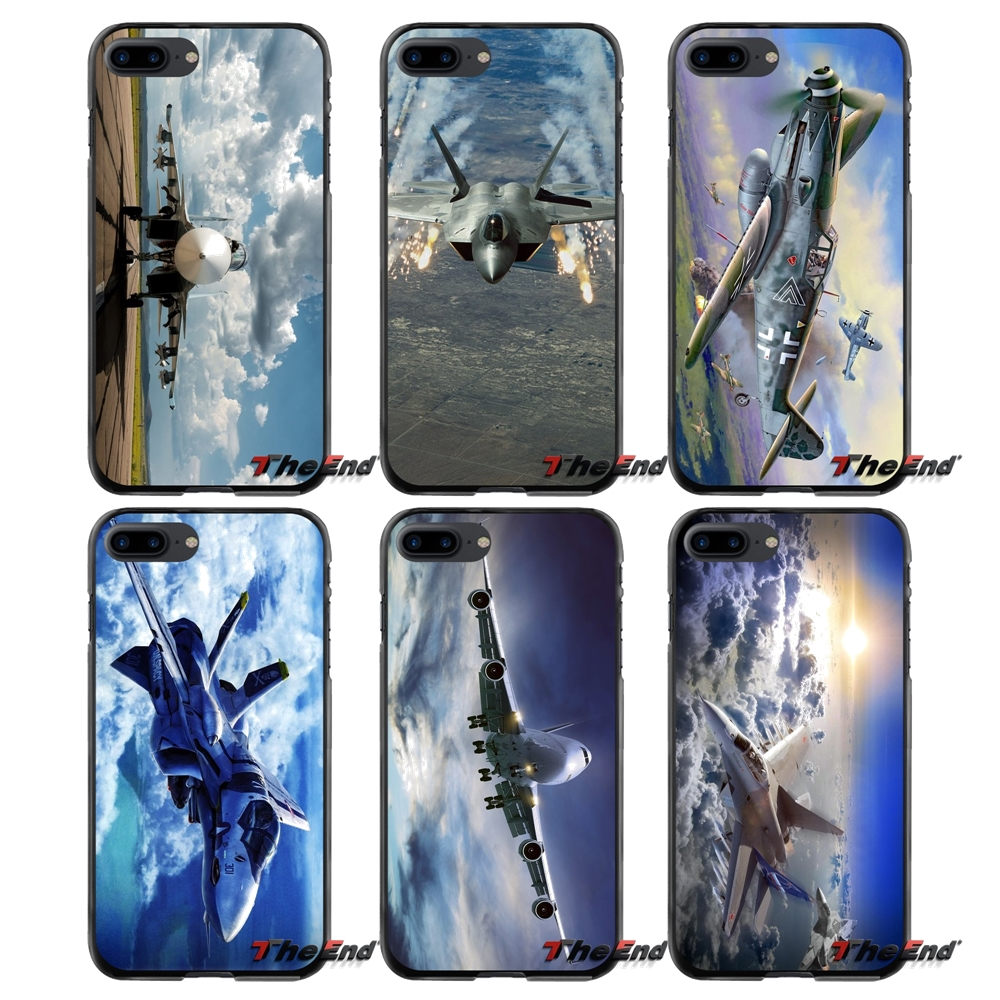 For Apple iPhone 4 4S 5 5S 5C SE 6 6S 7 8 Plus X iPod Touch 4 5 6 Accessories Phone Shell Covers Jet Plane