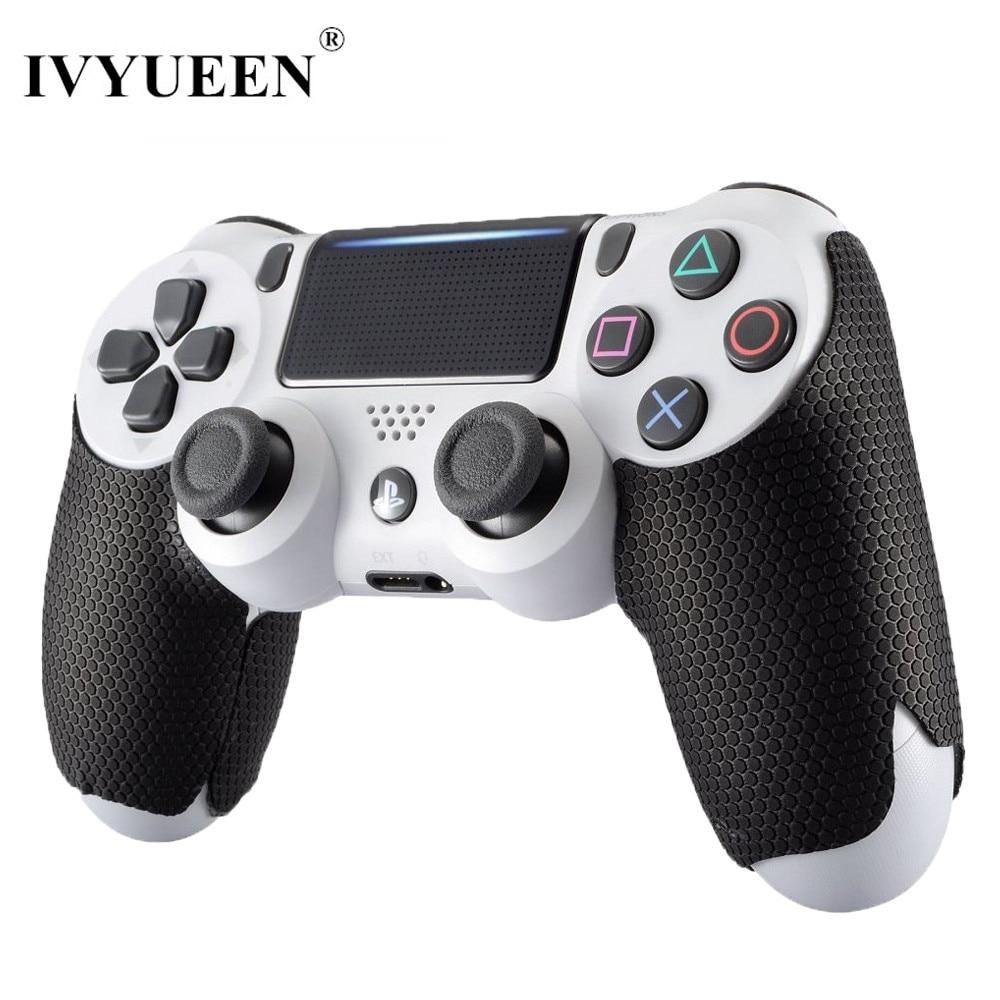 IVYUEEN Black Anti-slip Controller Grips Cover For Playstation Dualshock 4 PS4 Pro Slim Control Smarter Squid Hand Grip