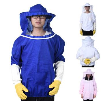 Kombinezon pszczelarski Pull Over Smock wyposażeniem ochronnym pszczelarstwo garnitur kapelusz P7Ding tanie i dobre opinie CN (pochodzenie) Other