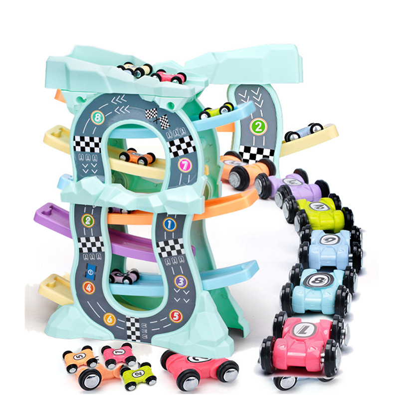 Racing Cars Model Toys For Children Ramp Racer Railway Track With Gliders Little Car Toy For Boys Birthday Gifts Kids