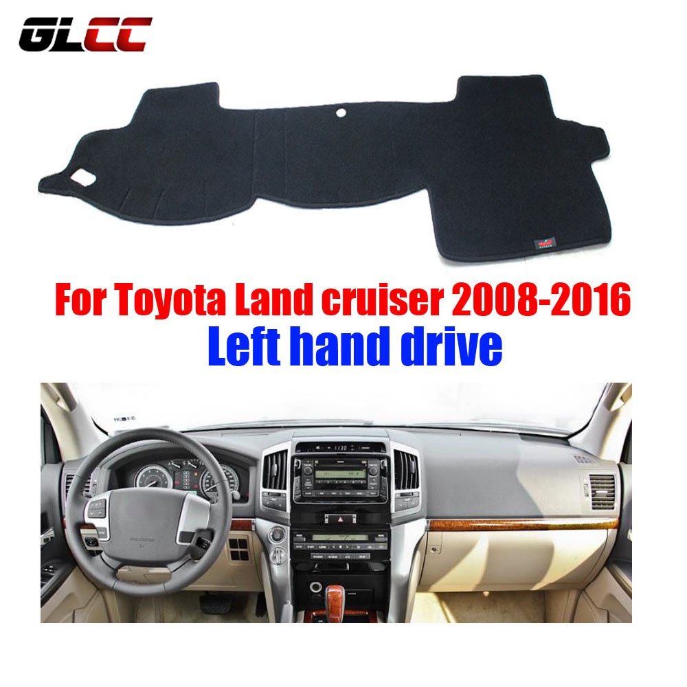 Car Dashboard Cover Mat For Toyota Land Cruiser 2008 2016 Left Hand Drive Dashmat Pad Dash Mat
