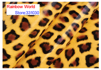 High Quality Mirror PU Leather Fabric With Leopard Pattern For DIY Car Shoes Bags Garment Material