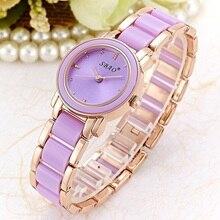 SBAO Brand Luxury Fashion Women's Quartz Watch Imitation Ceramic Bracelet Casual Girl Wristwatches Ladies Dress watches Clock