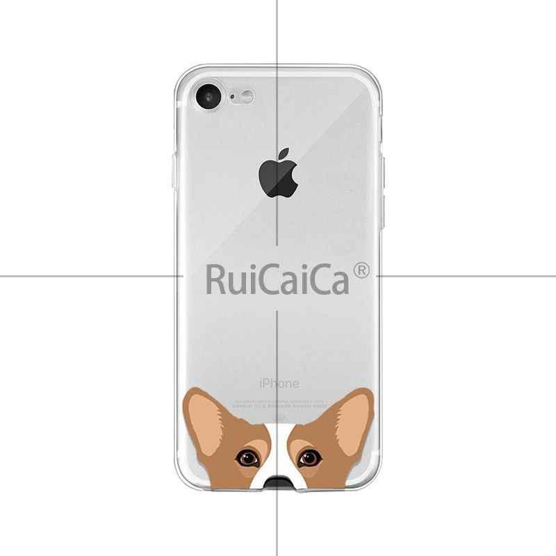 Ruicaica Carino e divertente cane di animale domestico del gatto testa Morbido Borsette Della Copertura Del Telefono per il iphone di Apple 8 7 6 6S più di X XS MAX 5 5S SE XR Telefoni Cellulari