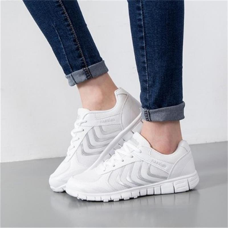 Breathable Women Casual Shoes sneakers Summer Fashion Womens Air Network Flat Shoes Comfortable Outdoor Lace up shoes JDT103