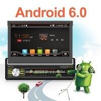 Android 6.01din Авторадио автомобильный радиоприемник gps Bluetooth стерео 7 HD Автомобильный игрока в тире стерео FM USB SD с заднего вида Камера