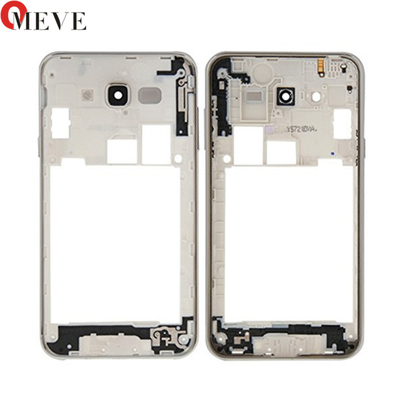 For Samsung Galaxy J7 2015 J700 Middle Frame Bezel Backplate Housing Case Cover+Camera Lens Replacement Parts