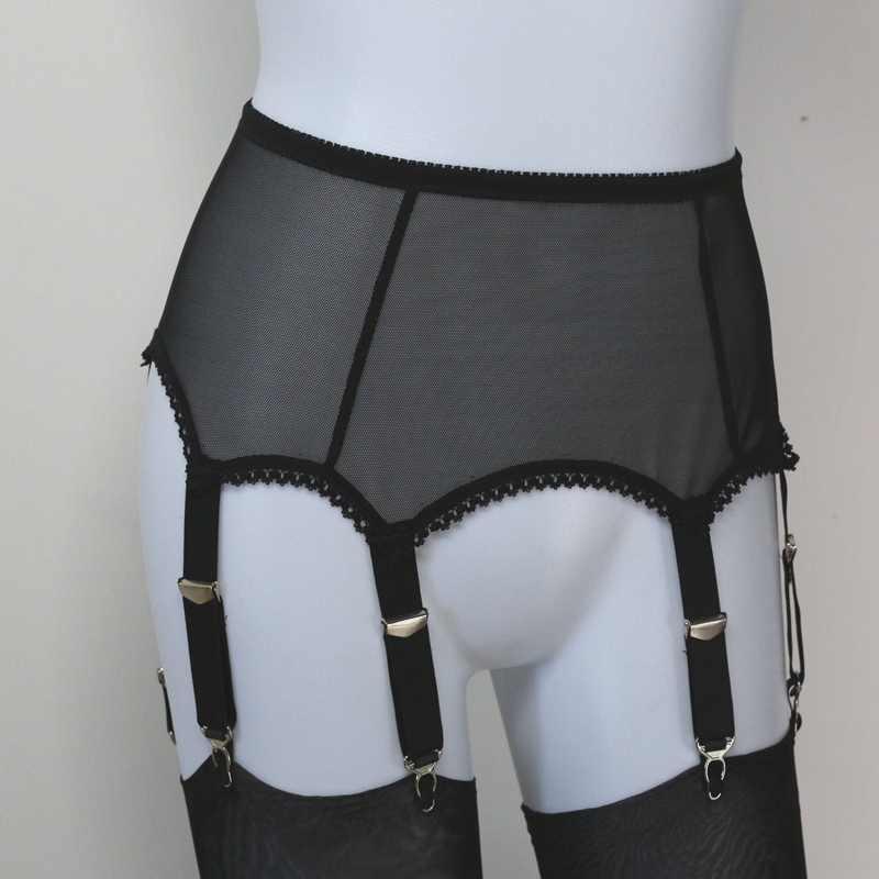 67e597b2834 ... Womens 6 STRAP lace garter plain Sexy Suspender Belt and stockings belt  lingerie ...