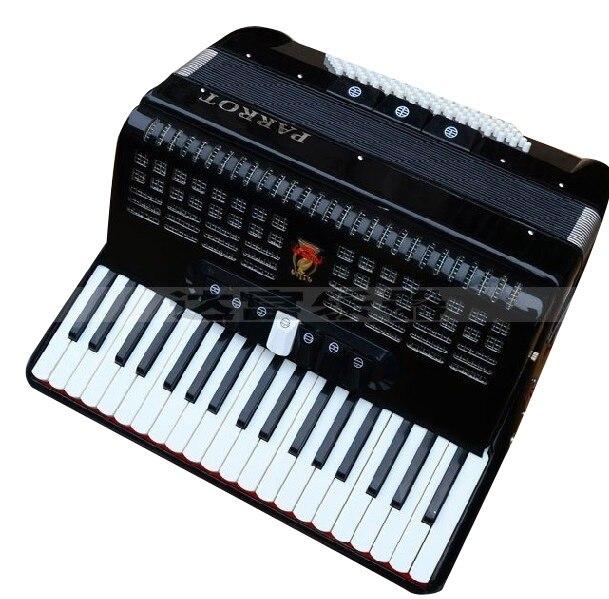 2016 Promotion réel Instrumentos Musicales nouveauté diatonique 37 le perroquet accordéon Sanfonas accordéon 871 96bs 96 basse