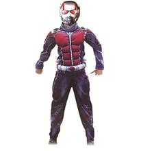 Disfraz Deluxe de hormiga man Muscle para chicos, nuevo disfraz de superhéroe de Marvel, disfraz de Halloween, traje de 3 uds. Para niños