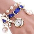 Luxury Women Watches Vente chaude De Mode De Luxe Femmes Montres Femmes Faux Pearl Ladies Bracelet Watch Analog Quartz-Watch