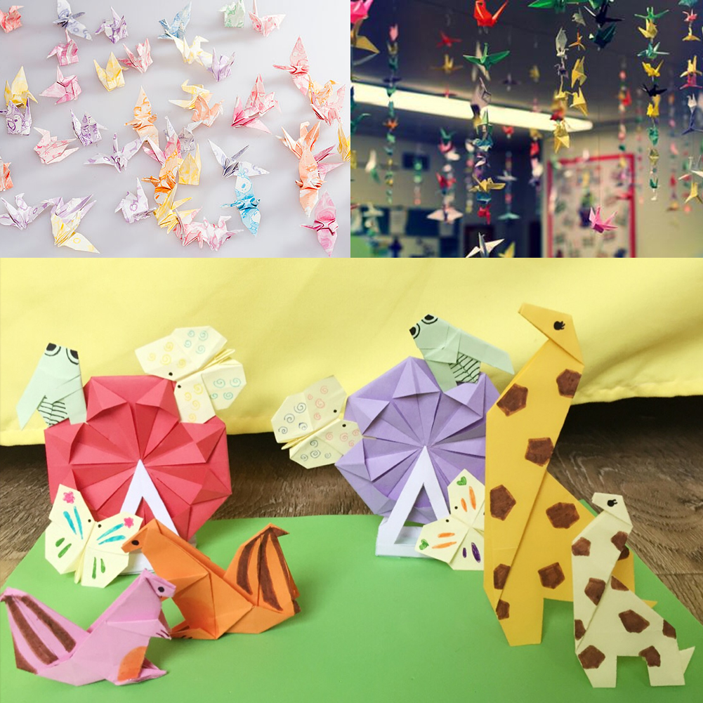 72 sheets 15x15cm mix color square 12 kinds of patterns paper colorful fresh and lovely patterns environmentally and safe materials perfect for origami crane and other origami objects arts and crafts jeuxipadfo Choice Image