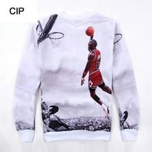 Jordan Sweatshirt Men 3D Printed Mens Streetwear Hoodies Digital Hiphop Sweatshirt Crew Neck Casual Harajuku