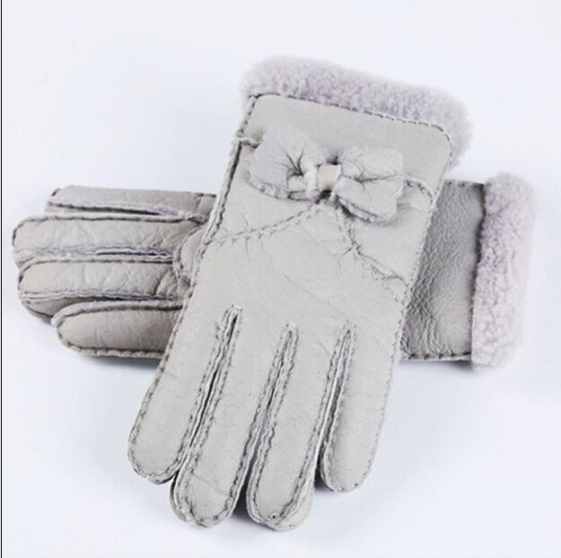 0bfedac595335 High Quality women warm fur gloves women's winter cold-proof thermal  genuine leather gloves Ladies Gloves Mittens Hand-made