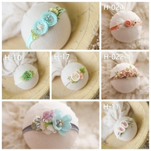 newborn headbands with flower baby princess lovely creative headwear headband photo shooting props hot-sell