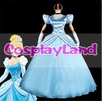 Cinderella Dress Halloween Christmas Cosplay Costume Custom Made Women's Fantasy Princess Dress Adult Cinderella Cosplay Costume